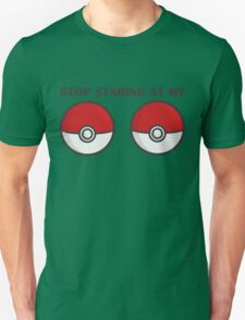 POKEBOOBS - Ladies Pokeball Shirt T-Shirt