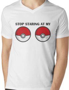 POKEBOOBS - Ladies Pokeball Shirt Mens V-Neck T-Shirt