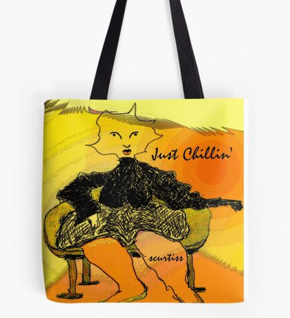 Self Portrait Sitting  Tote Bag