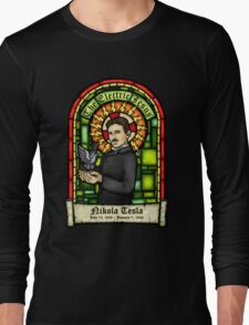 Tesla: The Electric Jesus Long Sleeve T-Shirt