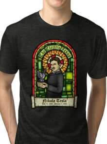 Tesla: The Electric Jesus Tri-blend T-Shirt