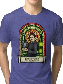 Tesla: The Electric Jesus Tri-blend T-Shirt
