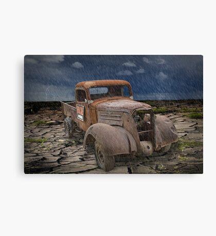 Vintage Auto in the Rain Canvas Print