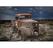 Vintage Auto in the Rain Photographic Print