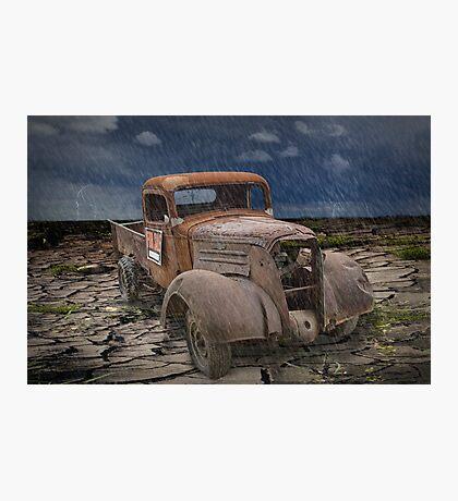 Vintage Auto in the Rain Photographic Print