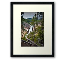 Falls in the Grand Canyon of Yellowstone Framed Print
