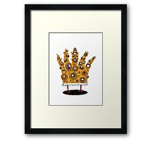 King of What, Queen of Bling Framed Print