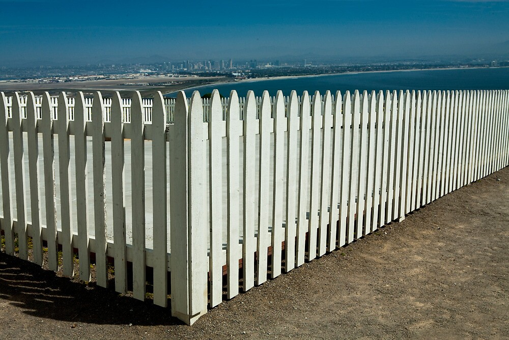 Picket Fence by the Cabrillo National Monument by Randall Nyhof