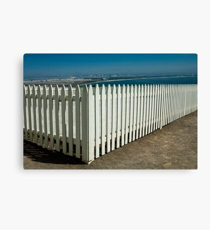 Picket Fence by the Cabrillo National Monument Canvas Print