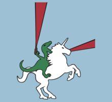 Dinosaur Riding Unicorn One Piece - Short Sleeve