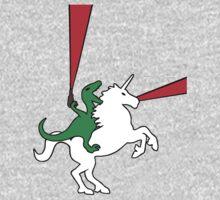 Dinosaur Riding Unicorn One Piece - Long Sleeve