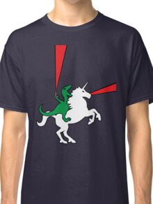Dinosaur Riding Unicorn Classic T-Shirt