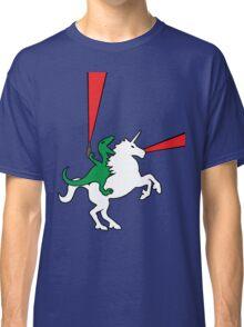 Dinosaur Riding Unicorn Classic T-Shirt