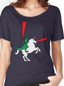 Dinosaur Riding Unicorn Women's Relaxed Fit T-Shirt