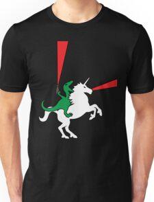 Dinosaur Riding Unicorn Unisex T-Shirt