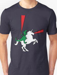Dinosaur Riding Unicorn T-Shirt