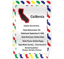 California Information Educational Poster Poster
