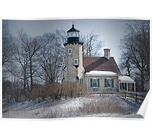 Lighthouse in Whitehall Michigan No 174 Poster