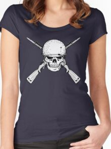 WW II M1 Carbine Jolly Roger Women's Fitted Scoop T-Shirt