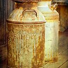 Creamery Cans in 1880 Town No 3098 by Randall Nyhof