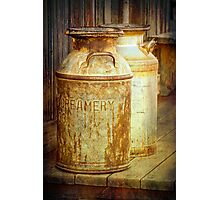 Creamery Cans in 1880 Town No 3098 Photographic Print