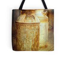 Creamery Cans in 1880 Town No 3098 Tote Bag