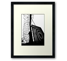 Behind the barbed wire 01 Framed Print