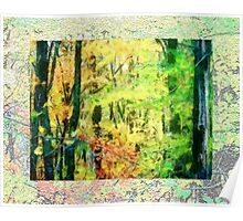Fall Tree Line - Green/Yellow Poster