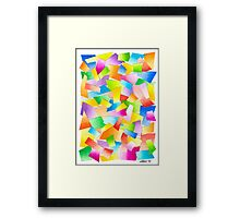 75 PARTS IN ONE - AQUAREL Framed Print