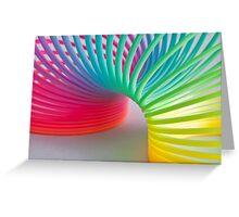 Rainbow Slinky Greeting Card