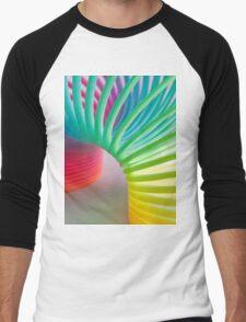 Rainbow Slinky Men's Baseball ¾ T-Shirt