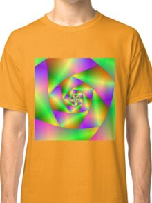 Spiral in Green Yellow and Pink Classic T-Shirt