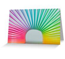 Rainbow Slinky 2 Greeting Card