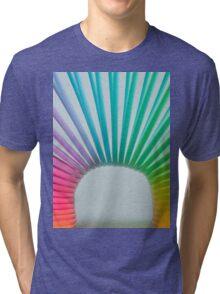 Rainbow Slinky 2 Tri-blend T-Shirt