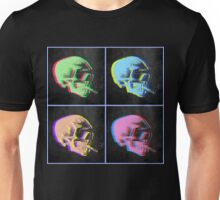 Van Gogh Skull with burning cigarette remixed set of 4 Unisex T-Shirt
