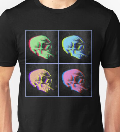 Van Gogh Skull with burning cigarette remixed set of 4 Unisex T-Shirt