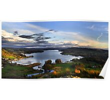 Lake Windermere from Loughrigg Fell, Ambleside Poster