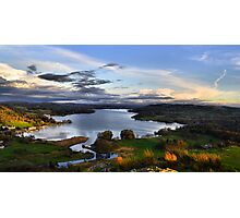 Lake Windermere from Loughrigg Fell, Ambleside Photographic Print