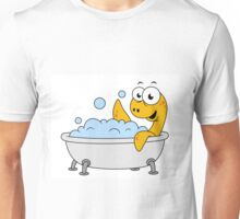 Illustration of a bathing Loch Ness Monster. Unisex T-Shirt