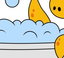 Illustration of a bathing Loch Ness Monster. Sticker