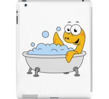 Illustration of a bathing Loch Ness Monster. iPad Case/Skin