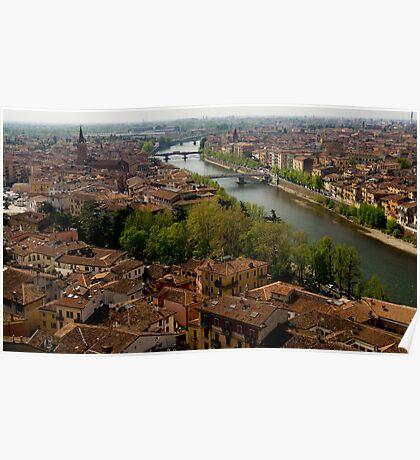 Verona City Scape from Castel San Pietro Poster