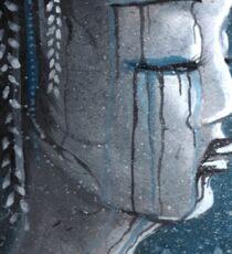 Geisha in Snow: The Stoic Concubine Sticker