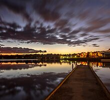 First light at Lake Ginninderra, A.C.T by Troy Barrett