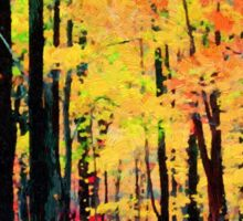Fall tree line - Red/yellow  ... no border Sticker