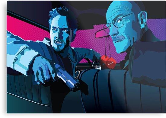 Jesse and Walter by batcatgraphics