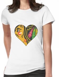 Hawks Love Womens Fitted T-Shirt