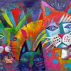 Colourful cats 2 by Karin Zeller
