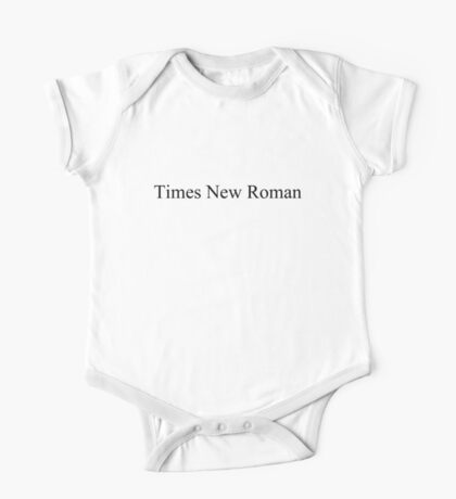 Times New Roman Kids Clothes