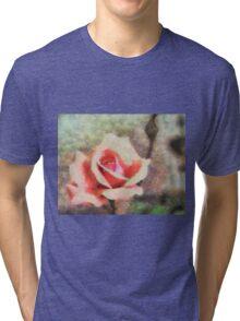 Cezzane Rose .. horizontal  ... no border Tri-blend T-Shirt